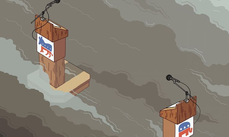 With the presidential primaries only weeks away, both political factions have their head in the clouds