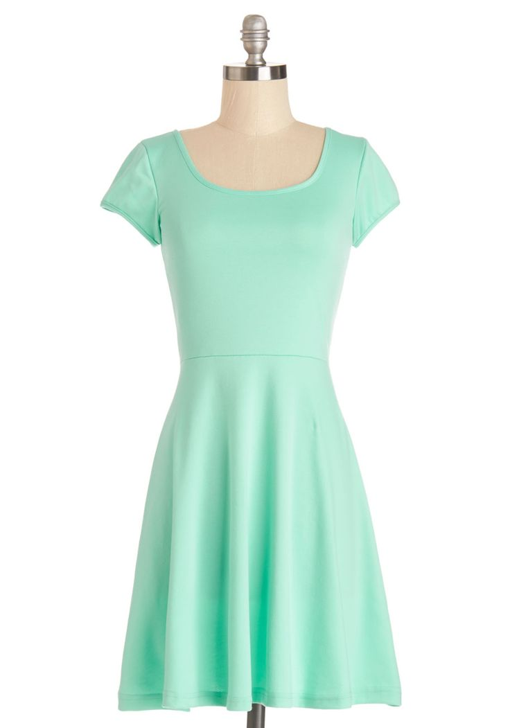 Awe-Inspiring Aqua Dress. The sight of you in this aqua-hued dress is as refreshing as a sparkling pool on a warm summer day. #mint #modcloth