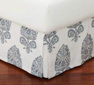 Bhotah Bed Skirt, Full - traditional - bedskirts - by Pottery Barn