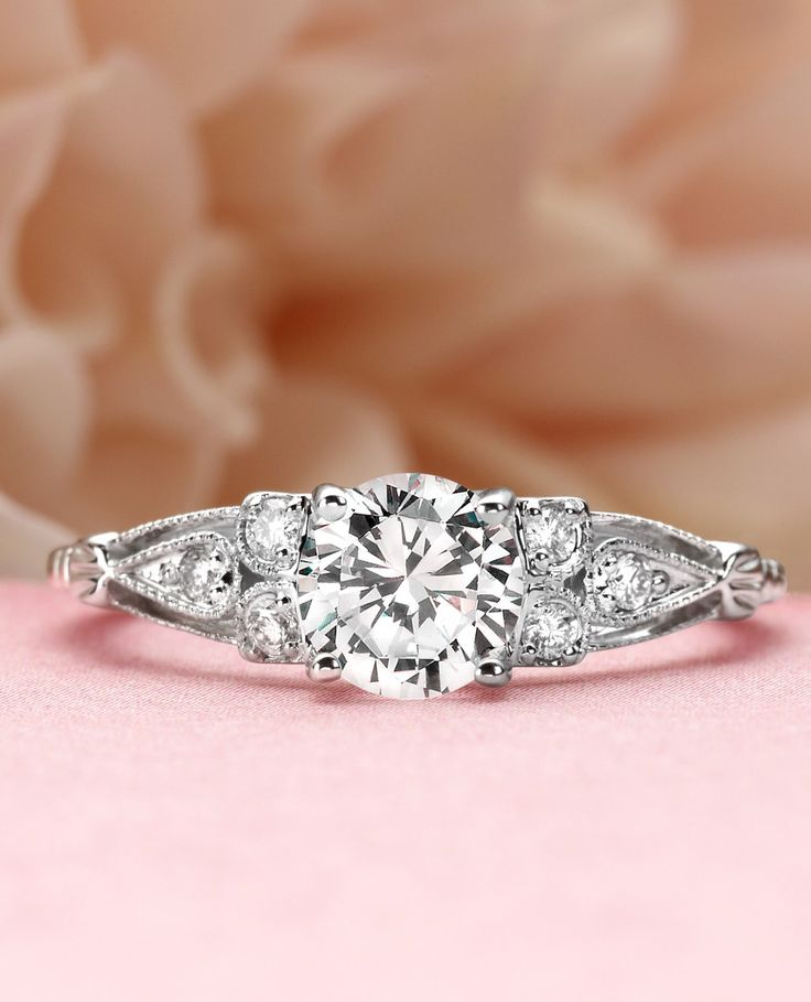 Rosabel white gold diamond ring Wedding Ideas Pinterest