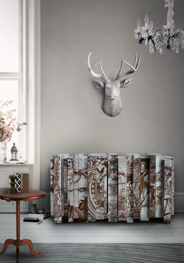 The Heritage Sepia Sideboard comfortably blends in all environments, yet maintains a luxury appeal, and demonstrates the talent and craftsmanship that is poured into each Boca do Lobo piece | www.bocadolobo.com #bocadolobo #luxuryfurniture #exclusivedesign #interiodesign #designideas #sideboard #heritagesepia #heritagesideboard