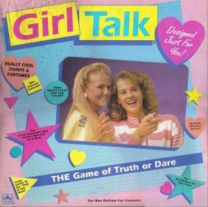 Girl Talk. It had pimple stickers you had to wear if you didn't do a dare. lol