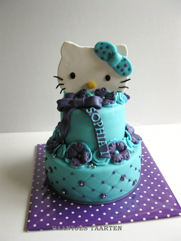Cake Hello Kitty Blue : 651 best images about Hello Kitty Cakes on Pinterest ...