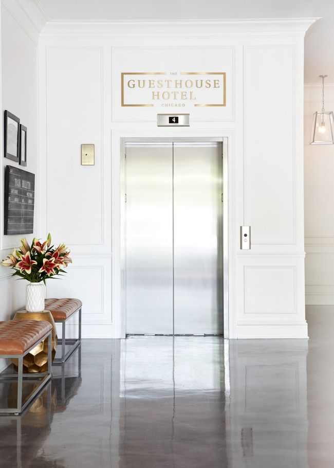 love the brass logo // the guesthouse hotel, design by jess lively