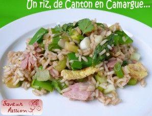 riz de Camargue façon cantonnaise asperges et pois gourmands