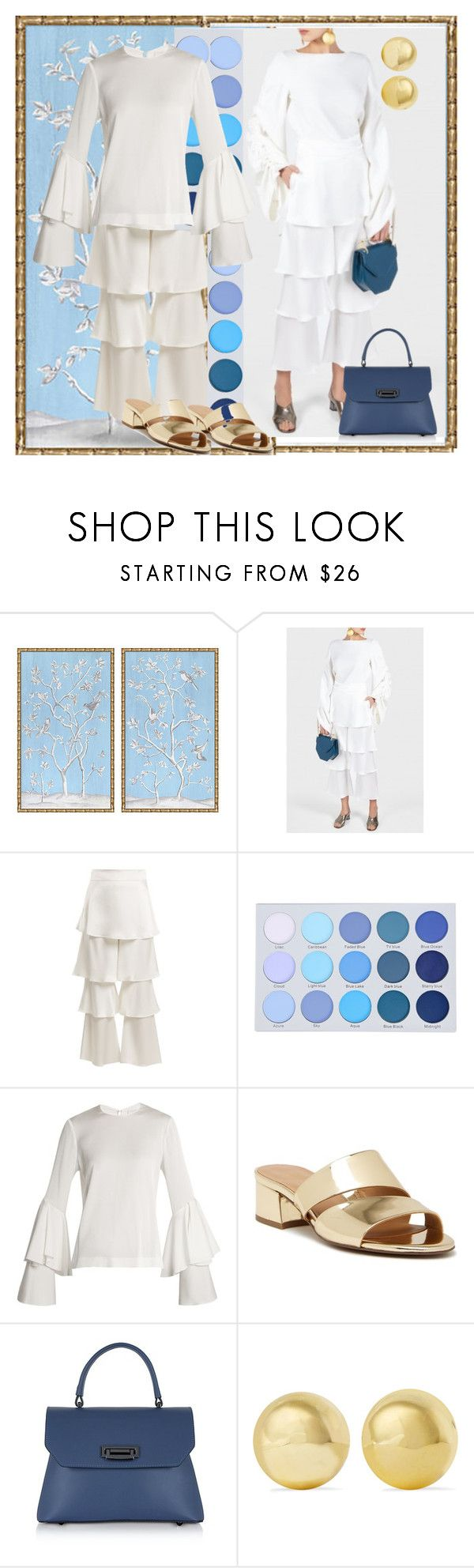 """Untitled #628"" by cigoehring ❤ liked on Polyvore featuring Osman, Galvan, Franco Sarto, Le Parmentier and Kenneth Jay Lane"