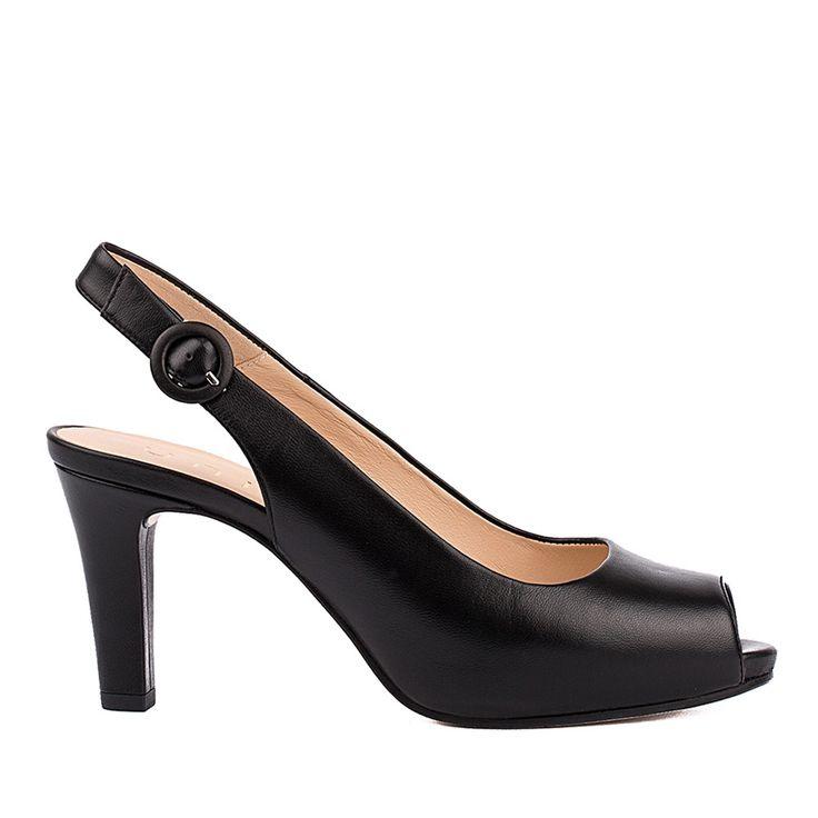 Zapatos negros de punta abierta Unisa para mujer my62vuz