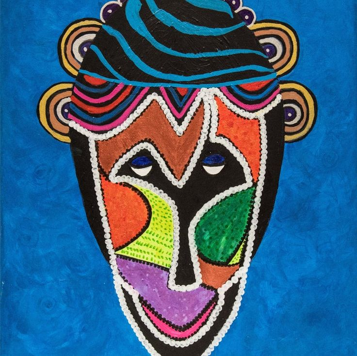 African man painting original on canvas wall decor etsy