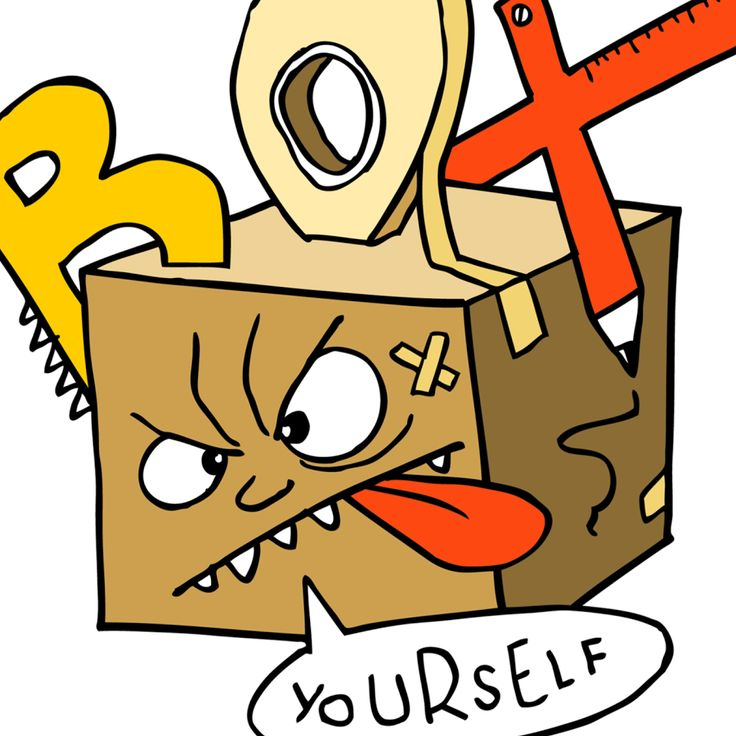 Box Yourself is all about cardboard craft. Anyone can be an artist! All you need is some materials you find in your house, like cardboard, boxes, toilet roll...