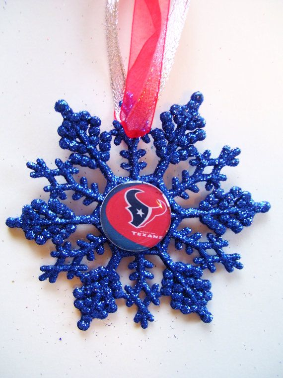 Houston TEXANS Football Fans Christmas Ornament by ZZsTeamTime