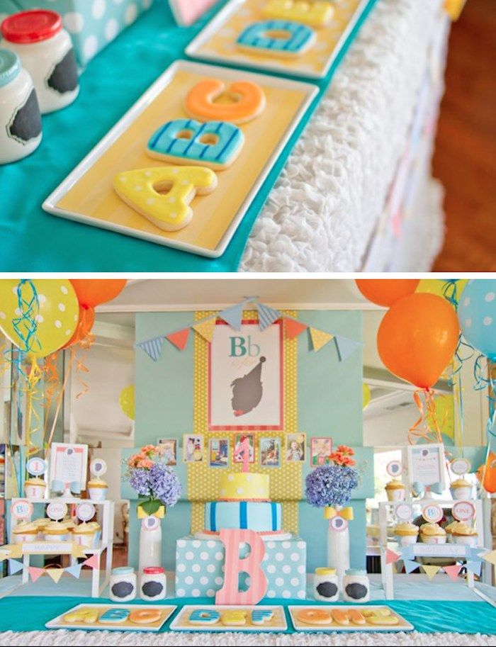 ABC 123 Silhouette themed 1st birthday party via Kara's Party Ideas KarasPartyIdeas.com #abcparty #1stbirthdayparty #partyideas