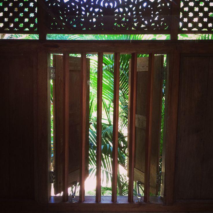 Bungalow Javanese house detail. bali