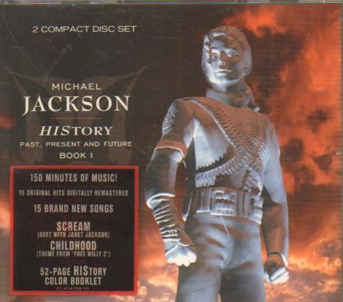 Michael Jackson History Past Present and Future Vol.1 - Stickered + Merch sheet 1995 UK 2-CD album set 474092: MICHAEL JACKSON History Past…