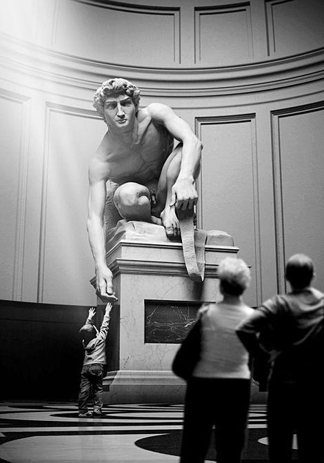 Michelangelo Buonarroti, David on ArtStack #michelangelo-buonarroti #art
