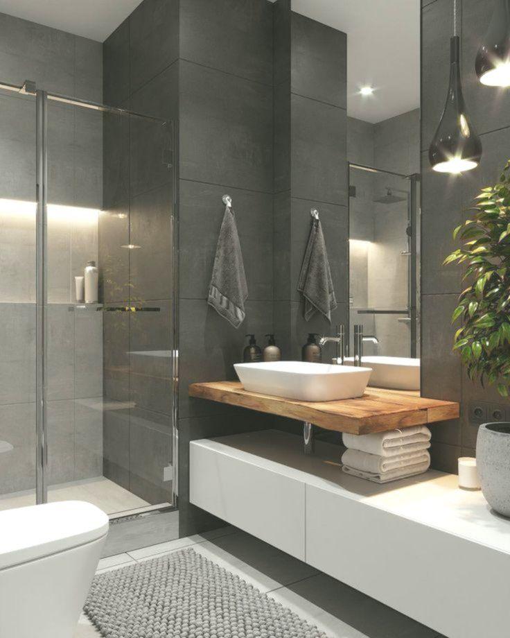 Dunkles Badezimmer mit Toiletten Badezimmer Badezimmer ...