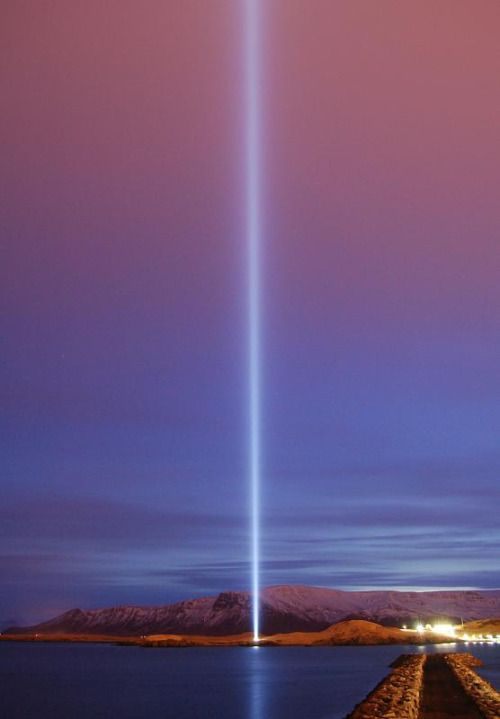 illillill:  samedesire:  shunta:  cammmpo:  IMAGINE PEACE TOWER (via Yoko Ono official)
