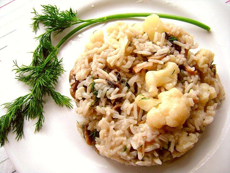 Ryż z pieczarkami i kalafiorem
