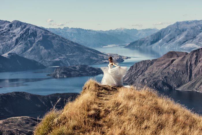 Destination Heli Wedding on Coromandel Peak in Wanaka NZ
