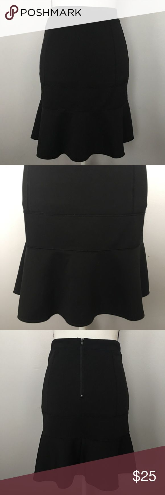 """EUC Whitney Port Black Professional Skirt Whitney Port Black Skirt Size 2 13"""" at Waist (measured flat) 19"""" Long Structured through hips with small flair at bottom Whitney Port Skirts"""