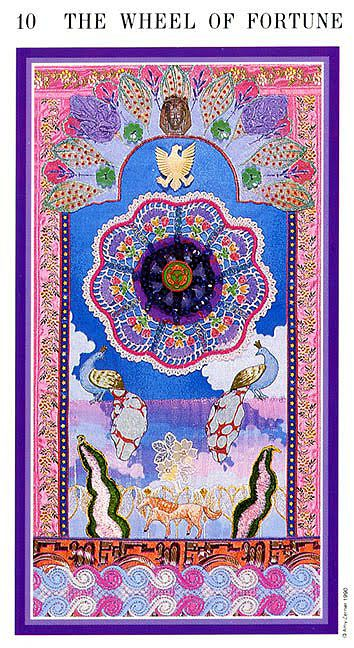 X. The Wheel of Fortune - Zerner-Farber Tarot by Amy Zerner, Monte Farber
