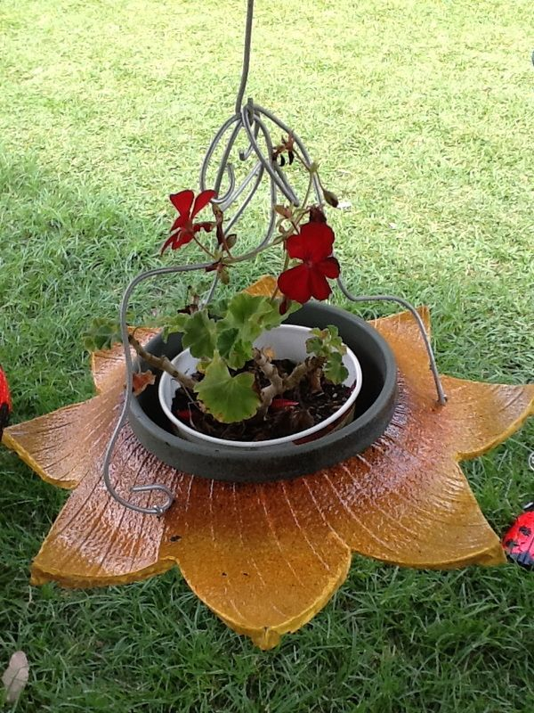 Recycled Tire Orchid holders, Butterflies and Planters - www.cooltireswings.com