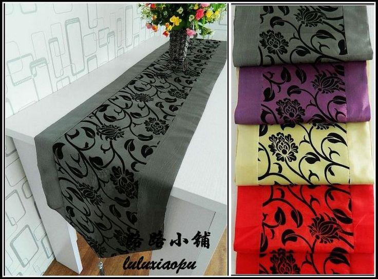 pequeña flor rebaño de impresión elegante corredor de la tabla de la moda corredor de la tabla de la cubierta cojines multicolores