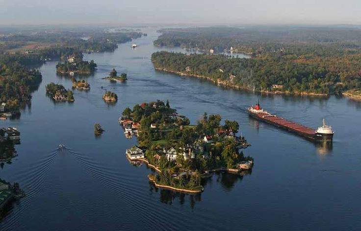 The Thousand Islands is the name of an archipelago of islands that straddle the Canada-U.S. border in the Saint Lawrence River as it emerges from the northeast corner of Lake Ontario.