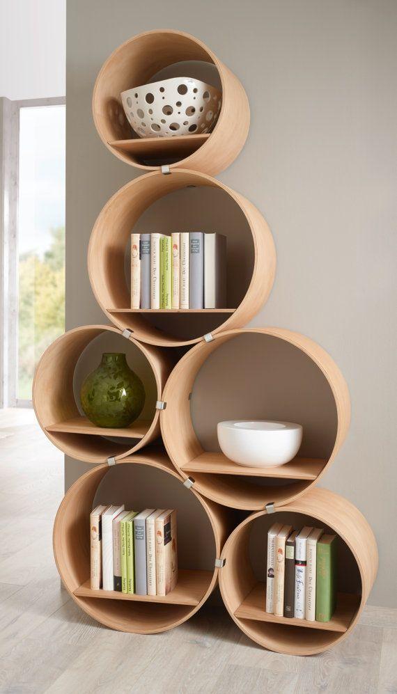 Wall Shelf Set/slim complete 2 tubes 6 pieces by KisskaltDesigns