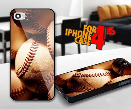 BaseBall Nike for iPhone 4 / 4s Black case | iPhoneCustomCase - Accessories on ArtFire