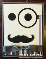 A great card for the men in your life! Love Stampin' Up!'s moustache framelit :)