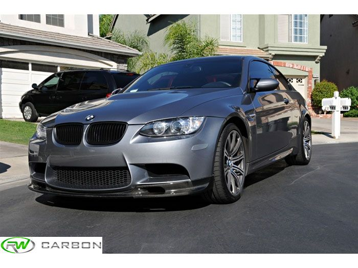The RW Carbon BMW 3D Style Front Lip in #Carbonfiber installed on 2010 BMW E92 M3!