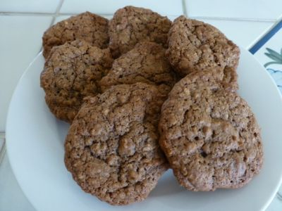 Chocolate oat biscuits