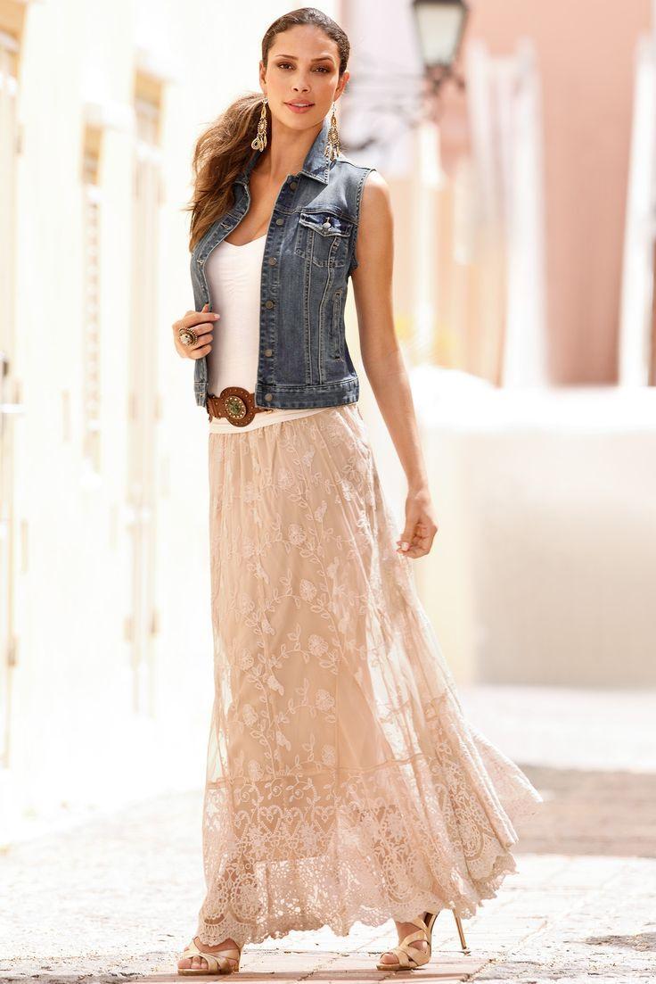 Best 25  Lace maxi skirts ideas on Pinterest | Maxi skirts ...
