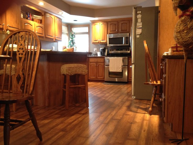Kitchen in a luxury vinyl plank flooring ideas Luxury kitchen flooring