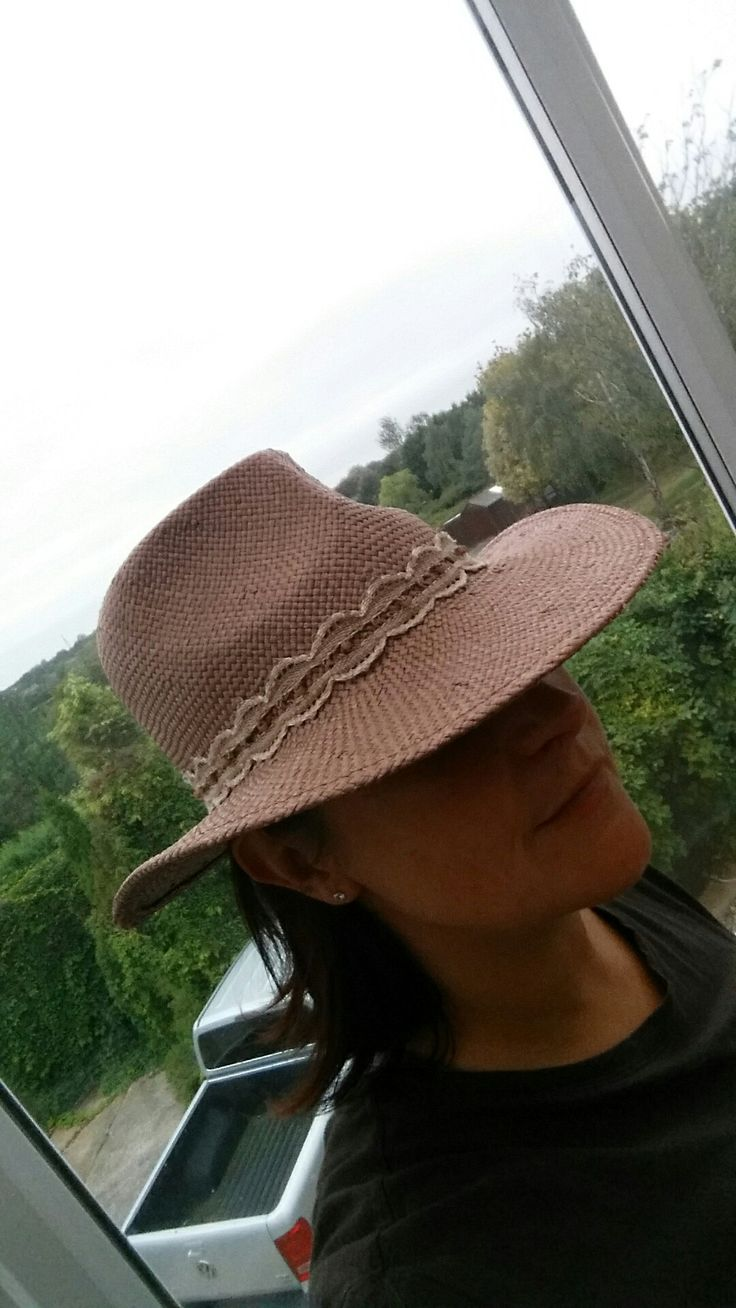 Finished lace trim on summer fedora by Noisy Swan