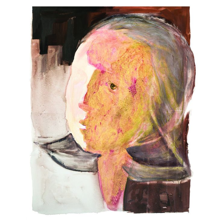 Woman Head Giclee Print, Contemporary Fine Art Print, Large Wall Art, Abstract Painting, Large Abstract Print, Large Portrait,Gold Art Print by GalyaS on Etsy