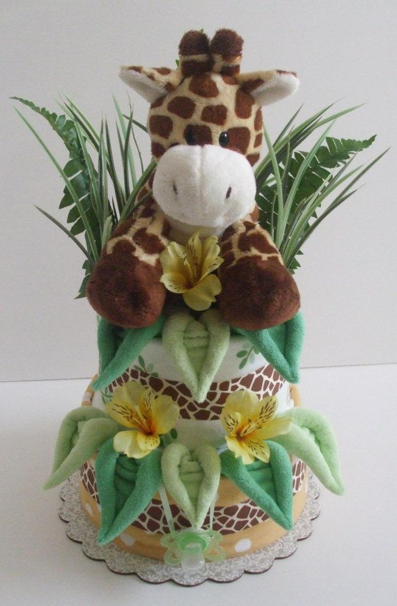giraffe nappy cake, so cute!