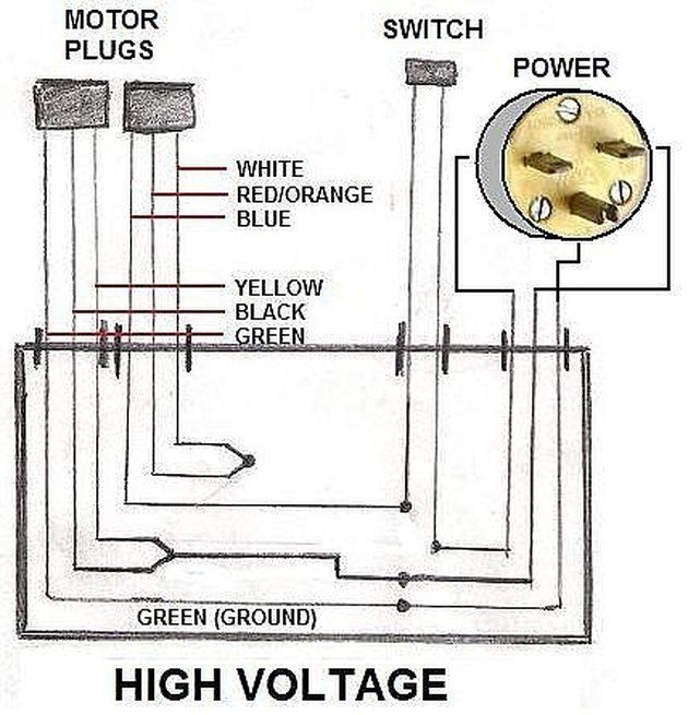 How To Wire An Electric Motor To Run On Both 110 And 220 Volts Hunker Electric Motor Electricity Motor