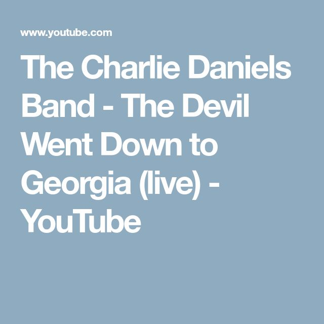 The Charlie Daniels Band - The Devil Went Down to Georgia (live) - YouTube