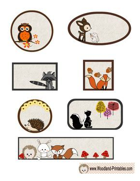 Free Printable Woodland Animals Labels