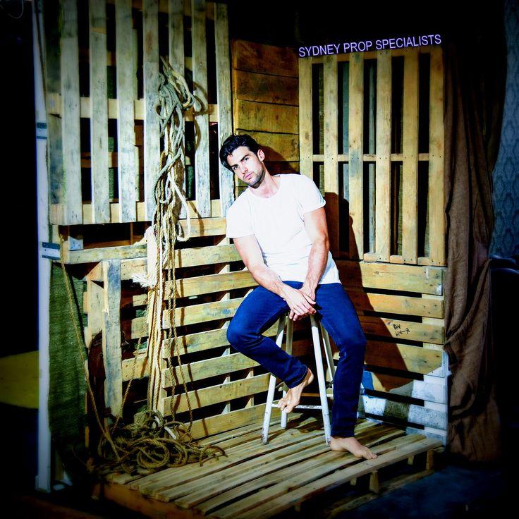 Studio 8 Textural Canvas Studio Sydney Props Photo Studios - wooden shipping crates, rustic, rope, model, set