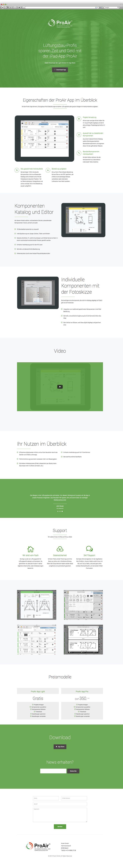 Kunde: ProAir App GmbH | Branche: Lüftungsmontagen - IT | Werbemittel: Responsive-Landingpage | Erscheinung: einmalig | Umfang: Standard