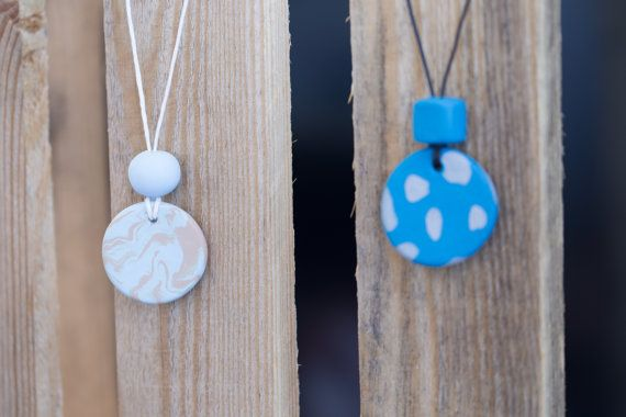 Polymer clay necklace. Clay pendant necklace by HandmadebyjoDesign