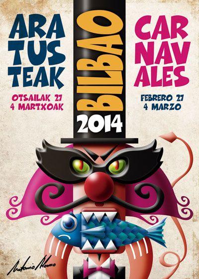 Bilbao (finalista). Cartel Carnaval 2014.
