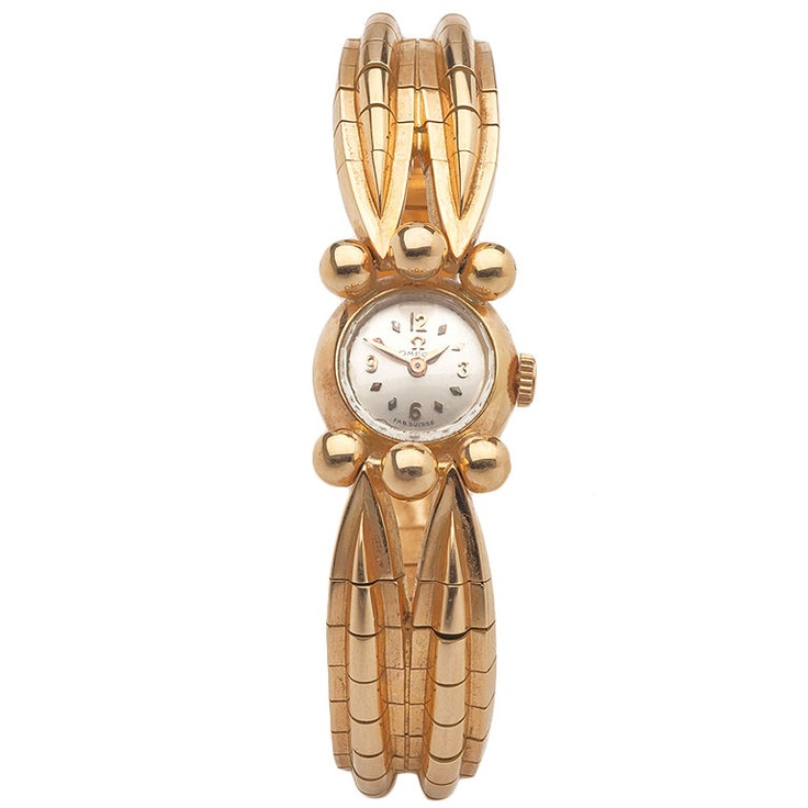 Ladies Gold Omega Watch / French / circa 1940