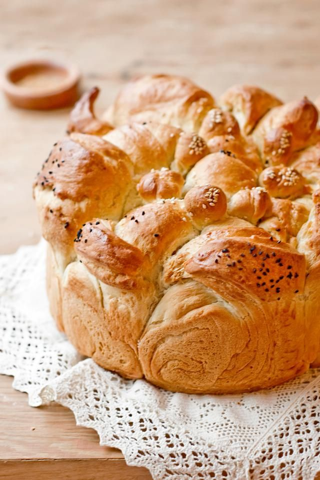 This recipe for Bulgarian Christmas bread (koledna pitka) is typically eaten on Christmas Eve and throughout the holidays.