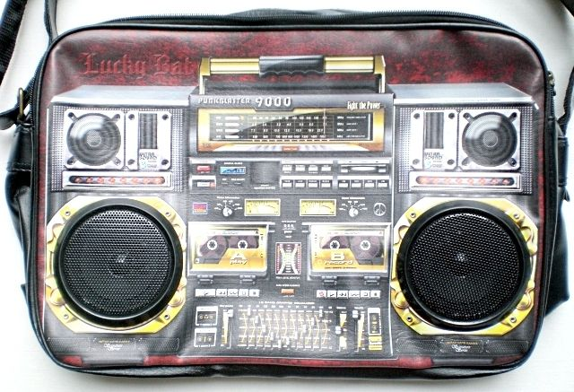 Borsa radio con casse per MP3