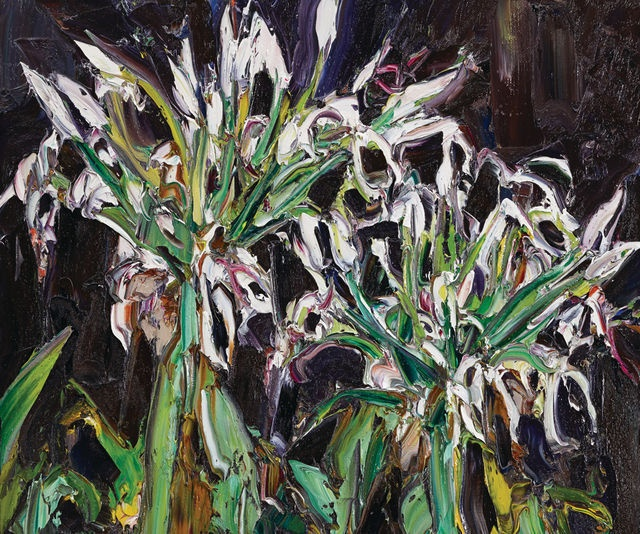 Nicholas Harding, Swamp lily heads (2012), via Artsy.net