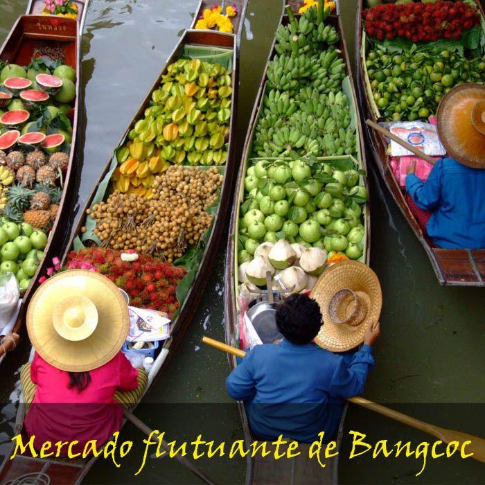 Mercado flutuante de Bangcoc