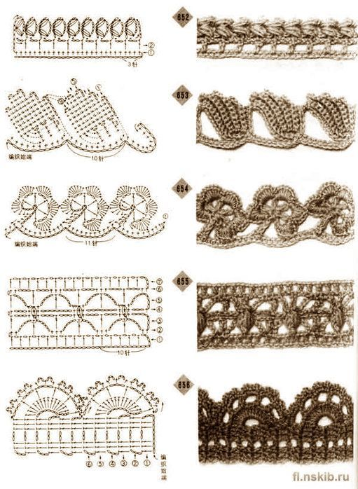 Elegant edging crochet patterns crochet border patterns, http://www.liveinternet.ru/users/ PRHSGVE